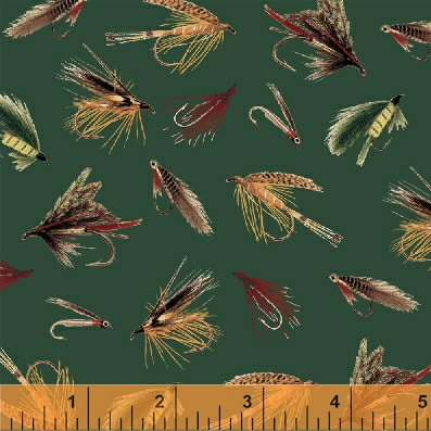 On the lake 33216 2 windham fabrics for Fishing themed fabric
