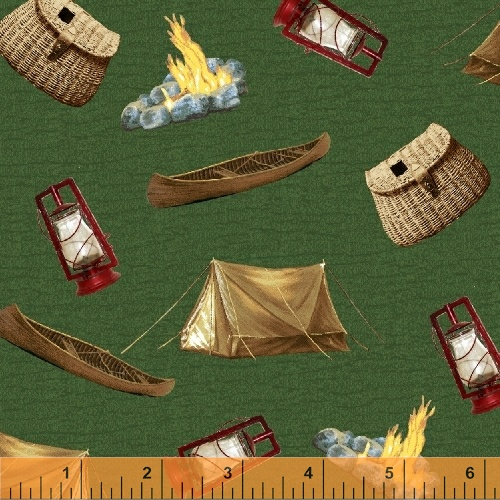 Outdoor life 35480 6 windham fabrics for Fishing themed fabric
