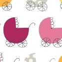 Pink carriage pattern, all-over
