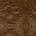 Tooled leather pattern, dark brown