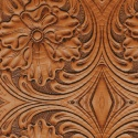 Tooled leather pattern, light brown