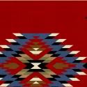 Navajo blanket pattern, red