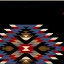 Navajo blanket pattern, black