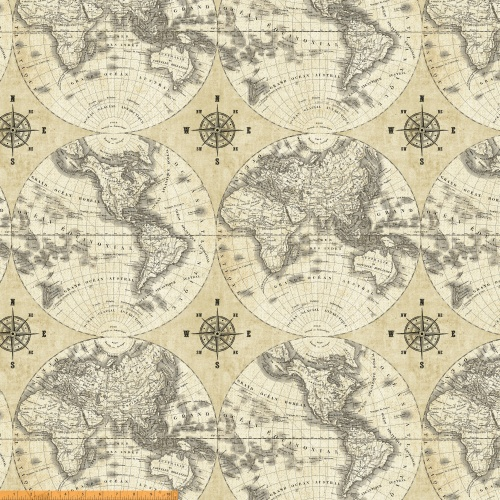 World Maps 40026 X Windham Fabrics