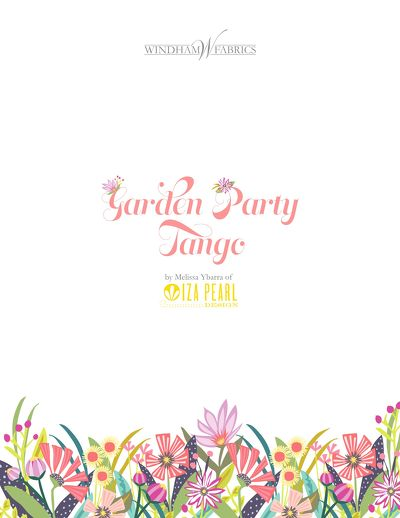 Garden Party Tango Project Lookbook by Melissa Ybarra of Iza Pearl Design
