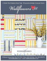 Wallflowers Project Brochure by Allison Harris of Cluck Cluck Sew