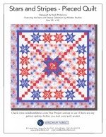 Stars and Stripes Pieced Quilt by