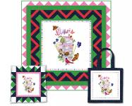 Illinois State Panel (Quilt, Pillow & Tote) by