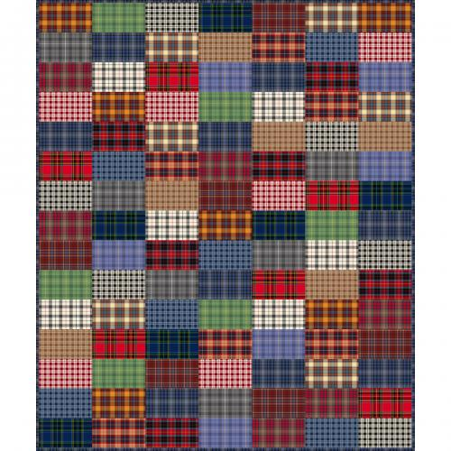 3-Step Quilt in Dad Plaids Flannel by Heather Givans of Crimson Tate