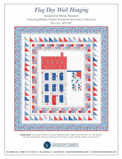 Flag Day Wall Hanging by Wendy Sheppard