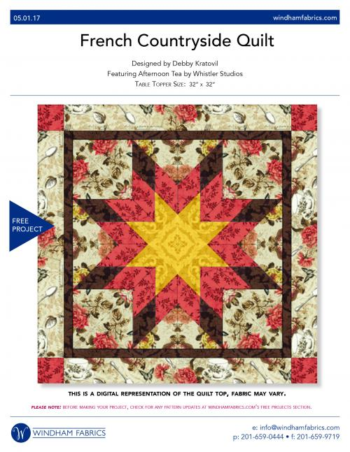 French Countryside Quilt by Debby Kratovil