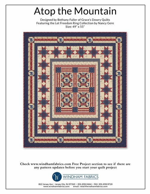 Atop the Mountain  by Bethany Fuller of Grace's Dowry Quilts