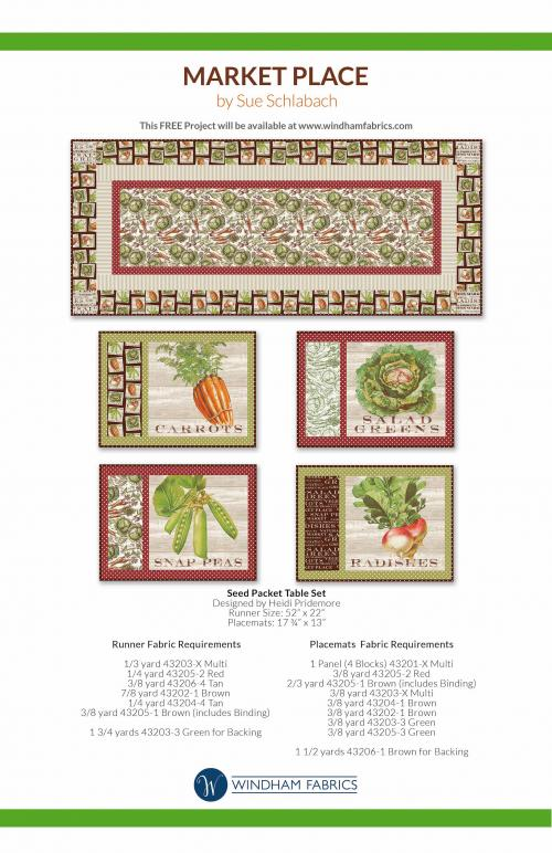 Seed Packet Table Set by Heidi Pridemore