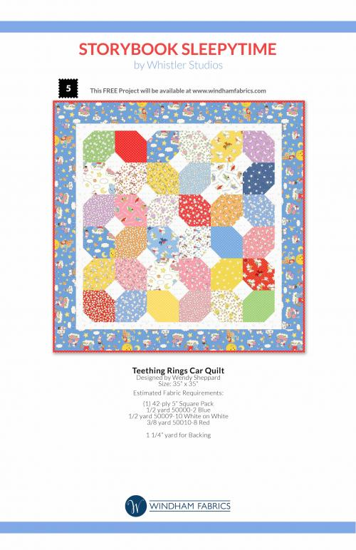Teething Rings Car Quilt by Wendy Sheppard