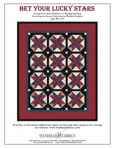 Bet Your Lucky Stars by John Kubiniec of Big Rig Quilting