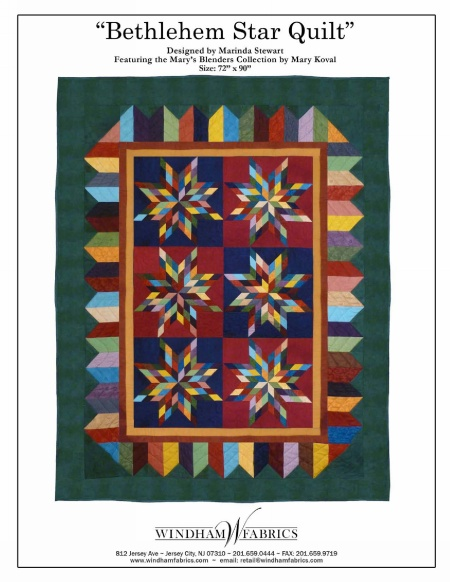 Bethlehem Star Quilt by Marinda Stewart, Free Projects, Windham Fabrics