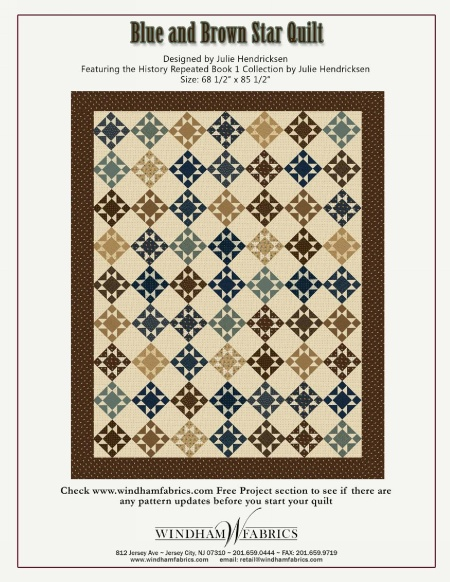 Blue And Brown Star Quilt By Julie Hendrickson Free Projects