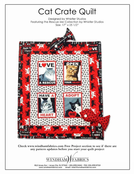 Cat Crate Quilt by Whistler Studios
