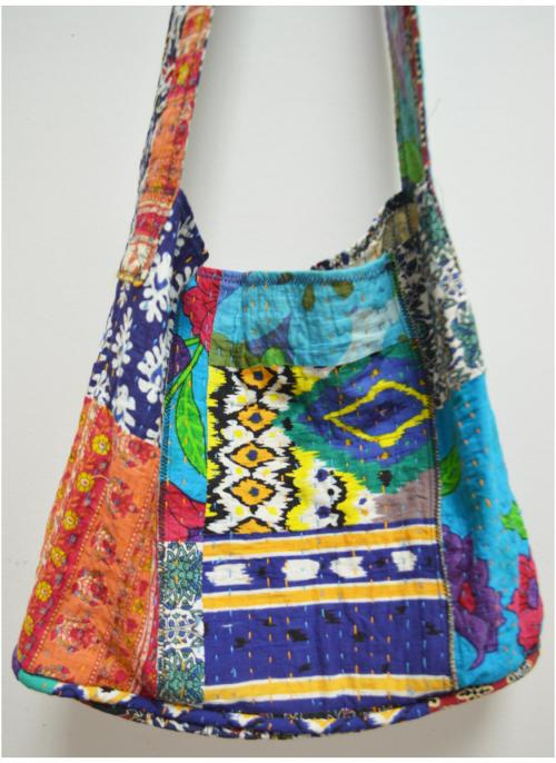 Hobo Bag (Kantha) by LJ Simon