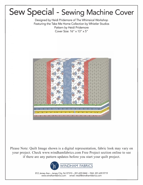 Sewing Machine Cover By Heidi Pridemore Free Projects Windham Fabrics