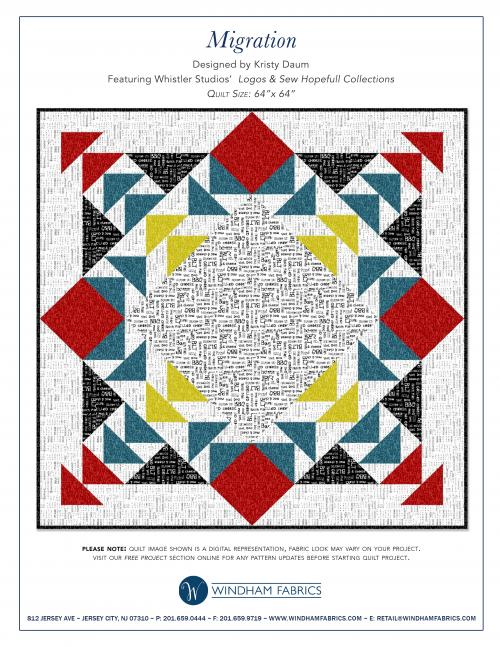 MIGRATION Quilt Pattern by Kristy Daum for Windham Fabrics // St. Louis Folk Victorian #freepattern #quilting #quilt #pattern #whistlerstudio #windham