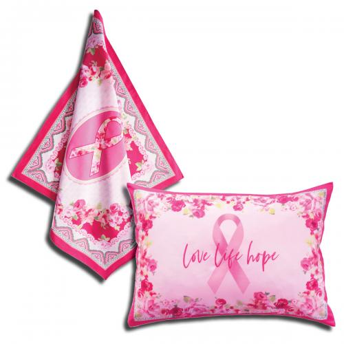 Love Pink Scarf and Pillow by LJ Simon