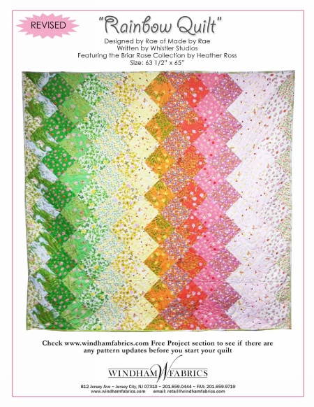 Rainbow Quilt by Rae, Free Projects, Windham Fabrics