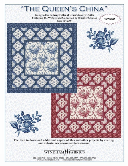 The Queen's China by Bethany Fuller of Grace's Dowry Quilts
