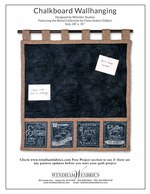 Chalkboard Wallhanging by Whistler Studios