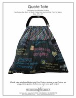 Quote Tote by Whistler Studios