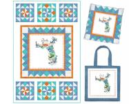 FL - Quilt, Pillow, Tote (variation) by Heidi Pridemore
