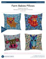 Farm Babies Pillows by Casey York
