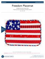 Freedom Placemat by Eazy Peazy Quilts