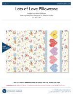 Lots of Love Pillowcase by Wendy Sheppard