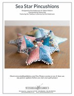 Sea Star Pincushions and Pillow by Kim Andersson of I Adore Pattern and Stacey Day