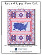Stars and Stripes Panel Quilt by Heidi Pridemore