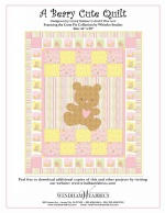 A Beary Cute Quilt by Hilary Bobker