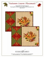 Autumn Leaves Placemats by Erin Witt Designs