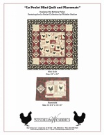 Le Poulet Mini Quilt and Placemats by Bethany Fuller