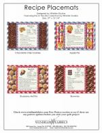 Recipe Placemats by Whistler Studios