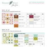 Summer School Yardage Charts by Various Designers