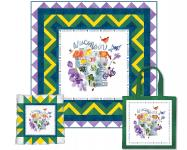 Wisconsin State Panel (Quilt, Pillow & Tote) by Heidi Pridemore