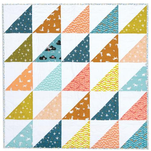 Weekend Baby Quilt by Tiffany Horn of Village Bound Quilts