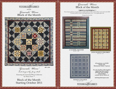 Generals' Wives Block of the Month