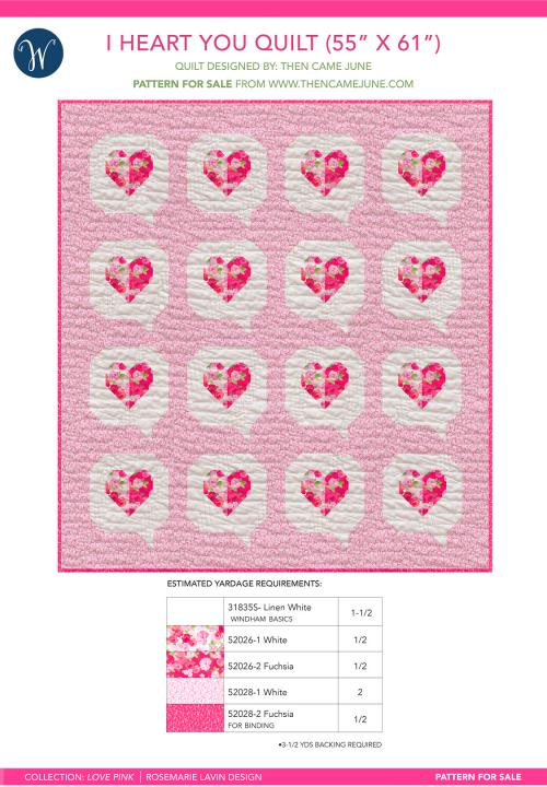 I Heart You, Love Pink (55 x 61)