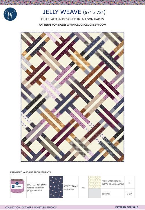 Bounce White Jacks Yardage  SKU# 51057-X by Allison Harris of Cluck Cluck Sew for Windham Fabrics
