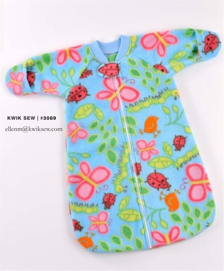 3089 Baby Sleep Sacks, by KWIK SEW, Patterns for Sale, Windham Fabrics