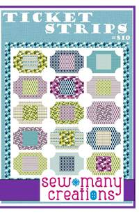 Ticket Strips by Sew Many Creations