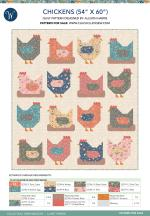 Chickens (54 x 60) by Allison Harris of Cluck Cluck Sew