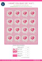 I Heart You, Love Pink (55 x 61) by Then Came June